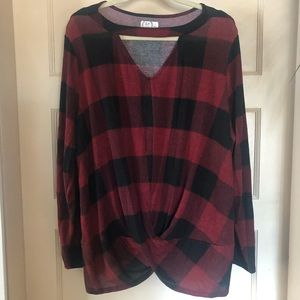 Maurices top with cutout